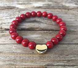 Náramky - náramok - červený koral - 11024956_