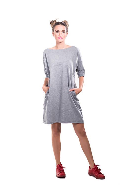 Šaty - Šaty mini teplákové - 11023811_