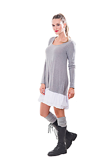 Šaty - Šaty s volánom - 11024323_