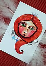 Kresby - -Mini kresbičky/víla/anjel- - 11024338_