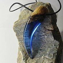 Náhrdelníky - Modrý pazúrik - 11024255_