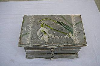 Krabičky - Drevená šperkovnica - 11025383_