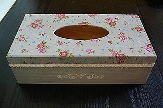 Krabičky - Zásobník na vreckovky - 11025420_