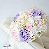 Kytice pre nevestu - Svadobná kytica z trvácnych kvetov - 11025734_