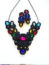 Sady šperkov - čiernofarebná - 11027857_