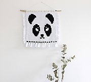 """Detské doplnky - makramé """"Panda"""" - 11028393_"""