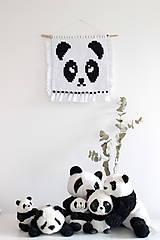 """Detské doplnky - makramé """"Panda"""" - 11028395_"""