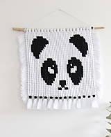 """Detské doplnky - makramé """"Panda"""" - 11028416_"""