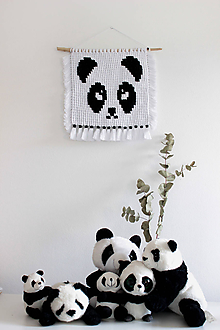 """Detské doplnky - makramé """"Panda"""" - 11028525_"""