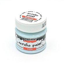 Farby-laky - Akrylová farba, matná, 50 ml, Pentart (ľadová modrá) - 11026335_