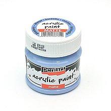 Farby-laky - Akrylová farba, matná, 50 ml, Pentart (čučoriedka) - 11026459_