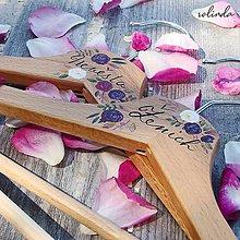 Dekorácie - Svatební ramínka - 11026753_