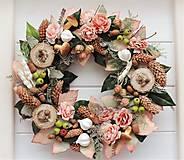 Dekorácie - Jesenný veniec na dvere - 11027684_