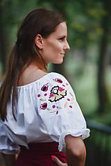 Topy - Bavlnená blúzka s výšivkou - 11026436_