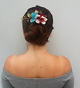 """Ozdoby do vlasov - Kvetinový hrebienok """"Pollyanna"""" - 11027089_"""