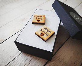 Šperky - Manžetové gombíky drevené - 11025924_