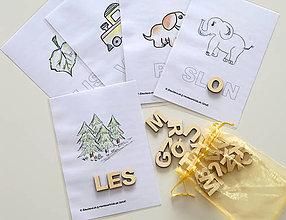 Hračky - Kreatívne písmenká ABECEDA – tvorenie prvých slov - 11026143_