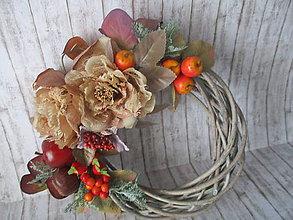 Dekorácie - Jesenný venček - 11026648_