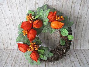 Dekorácie - Jesenný venček - 11026677_