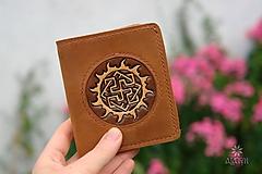 Peňaženky - Menšia kožená peňaženka IX. - 11027862_