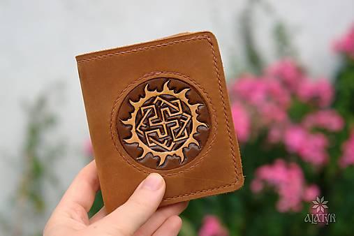 Menšia kožená peňaženka IX.