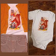 Detské oblečenie - Maľovaná veverička - 11028750_