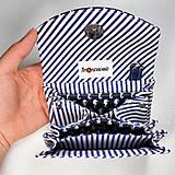 Peňaženky - Peňaženka Barborka - námornícka, morské koníky, pásik - 11026162_