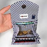 Peňaženky - Peňaženka Barborka - námornícka, morské koníky, pásik - 11026164_