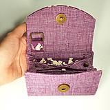 Peňaženky - Peňaženka Barborka - fialová s veveričkami - 11028787_
