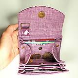 Peňaženky - Peňaženka Barborka - fialová s veveričkami - 11028788_