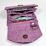 Peňaženky - Peňaženka Barborka - fialová s veveričkami - 11028790_