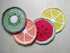 Úžitkový textil - Podložky pod poháre ovocie - 11026191_
