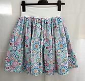 Sukne - Sukne. Sukničky v pastelovej farebnosti - tyrkysová a ružová. - 11026588_