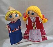 Hračky - Maňuška. Bábiky Janko a Marienka. - 11026624_