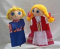 Hračky - Maňuška. Bábiky Janko a Marienka. - 11026625_