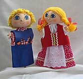 Hračky - Maňuška. Bábiky Janko a Marienka. - 11026627_
