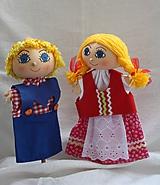 Hračky - Maňuška. Bábiky Janko a Marienka. - 11026628_