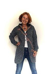 Kabáty - Kabátek ze svetroviny - 11027976_