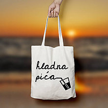 Nákupné tašky - Hladna pića (bavlnená taška) - 11028488_