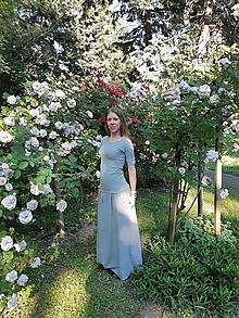 Šaty - Maxi šaty (Šedá) - 11026279_
