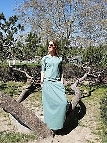 Šaty - Maxi šaty (Zelená) - 11026295_