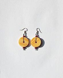 Náušnice - Drevené náušnice - Smrekové kruhy - 11025964_
