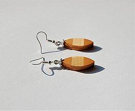 Náušnice - Drevené náušnice - Kvapky - 11027957_