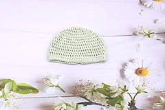 Detské čiapky - Mentolová letná čiapka EXTRA FINE (čistá) - 11026681_