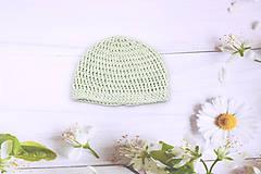 Detské čiapky - Mentolová letná čiapka EXTRA FINE (čistá) - 11026682_