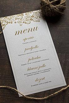 """Papiernictvo - Svadobné menu """"Ornament"""" - 11028178_"""