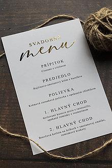 "Papiernictvo - Svadobné menu ""Zlatý nadpis"" - 11028234_"