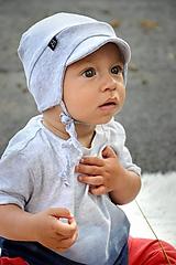 Detské čiapky - Čiapka do vetra so šiltom -rôzne odtiene - 11028872_