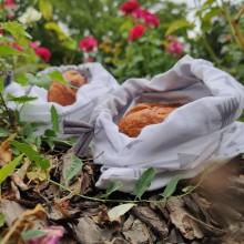Úžitkový textil - Zero waste sada  (2 vrecúška - Šípy 1) - 11028136_