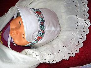 Detské čiapky - čepček pre chlapčeka ku krstu - 11027057_